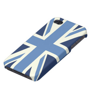 Sky Blue Union Jack iPhone 4/4S Covers