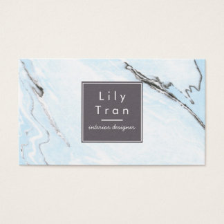 Sky Blue Watercolor Marble Business Card