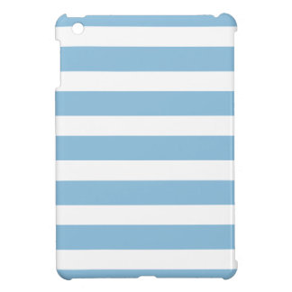 Sky Blue Wide Stripes Cover For The iPad Mini