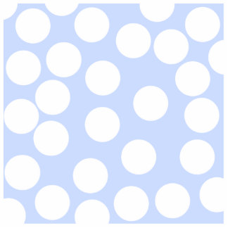 Sky blue with large white dots Custom Acrylic Cut Outs