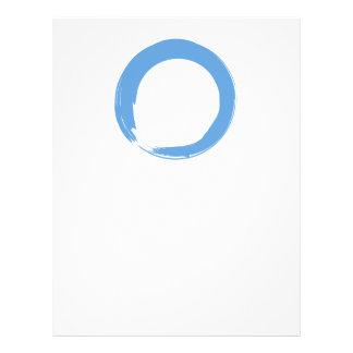 Sky Blue Zen Symbol 21.5 Cm X 28 Cm Flyer