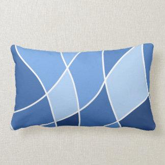 Sky blues – trendy stylish design lumbar pillow