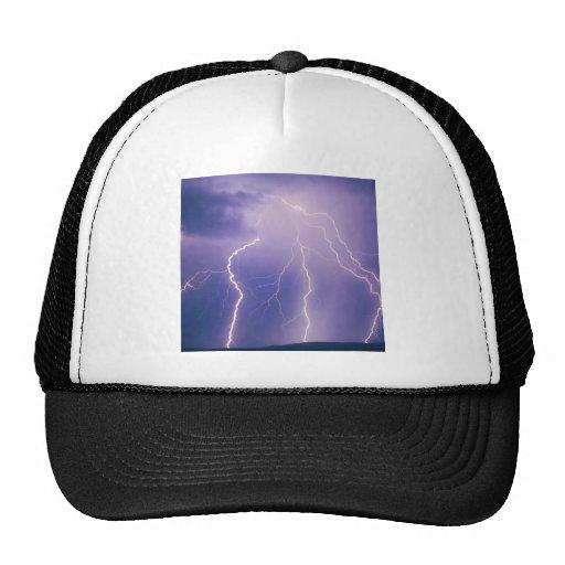 Sky Chain Lightning Trucker Hats
