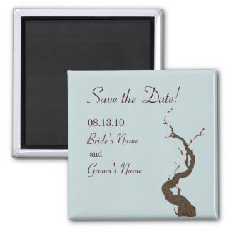 Sky Cherry Blossom Save the Date Magnet