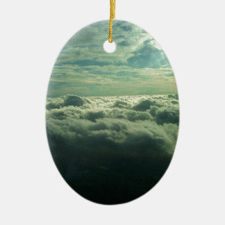 Sky Cloud Design - Flying Picture Ceramic Oval Decoration