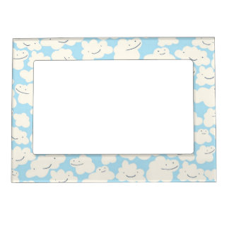 Sky Cloud People Magnetic Photo Frame