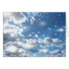 Sky Clouds Sparkles Card