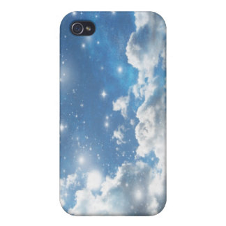 Sky Clouds Sparkles Covers For iPhone 4