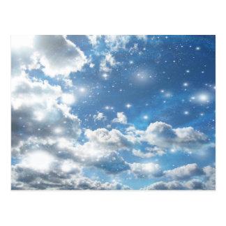 Sky Clouds Sparkles Postcard