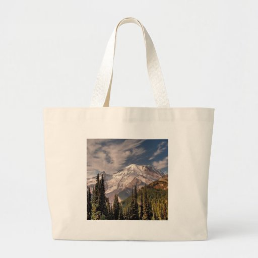 Sky Cold Peaceful Mountians Canvas Bag