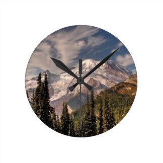 Sky Cold Peaceful Mountians Wallclock