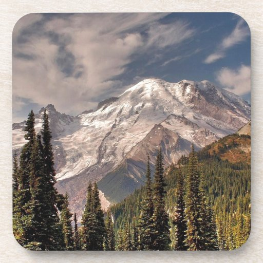 Sky Cold Peaceful Mountians Coasters