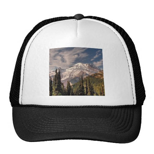 Sky Cold Peaceful Mountians Trucker Hat
