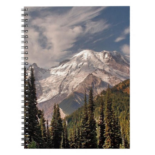 Sky Cold Peaceful Mountians Spiral Notebooks