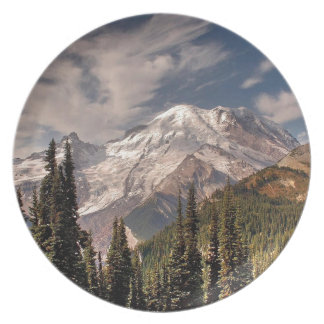 Sky Cold Peaceful Mountians Party Plates