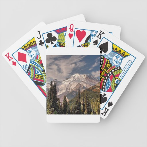 Sky Cold Peaceful Mountians Poker Cards
