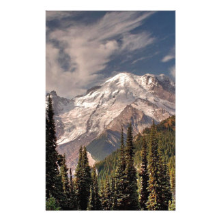 Sky Cold Peaceful Mountians Stationery Design