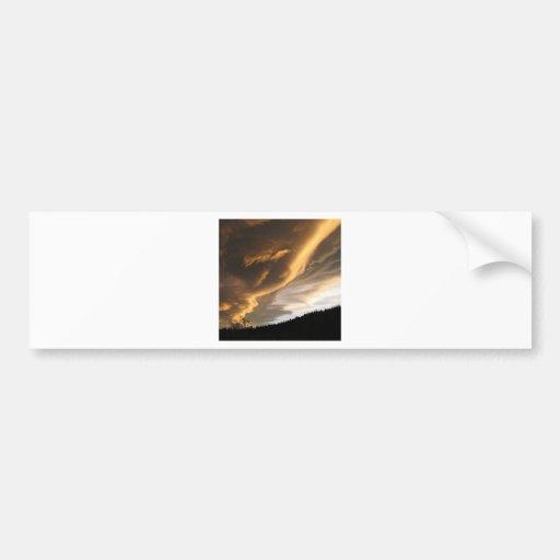 Sky Dark Trail Cloud Bumper Sticker