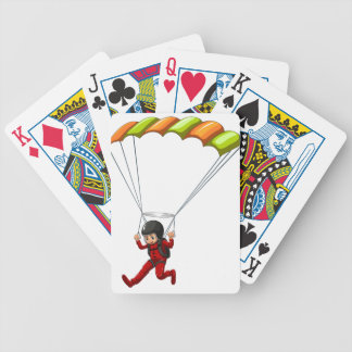 Sky diving bicycle playing cards