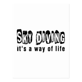 Sky diving It's a way of life Postcard