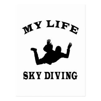 Sky diving My Life Postcard