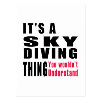 Sky diving Thing Designs Postcard
