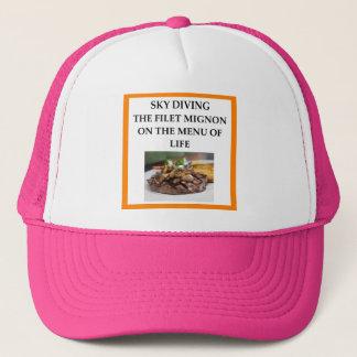 sky diving trucker hat