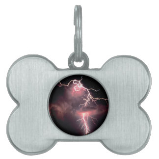 Sky Electric Evening Pet ID Tag