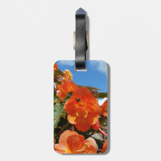 sky, flowers and bee luggage tag