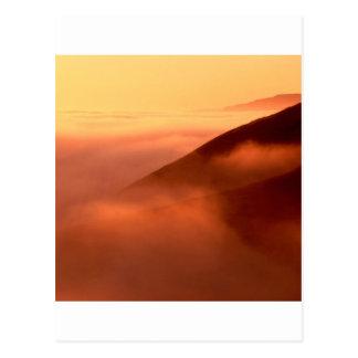 Sky Fog Coastal Hills Mendocino California Postcard