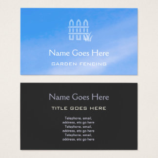 """Sky"" Garden Fencing Business Cards"