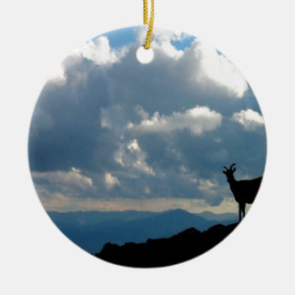 Sky Goats Paradise Ceramic Ornament