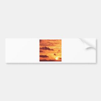 Sky Golden Glow Bumper Sticker