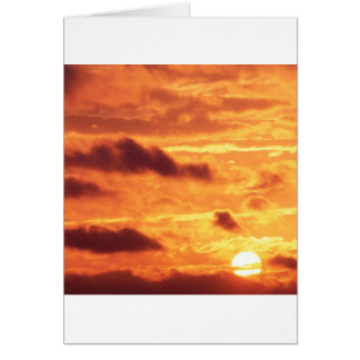 Sky Golden Glow Greeting Cards