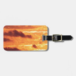 Sky Golden Glow Tags For Bags