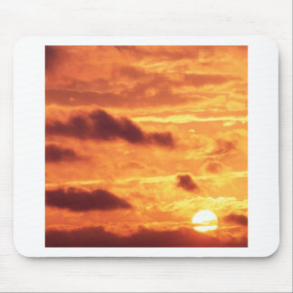 Sky Golden Glow Mouse Pad