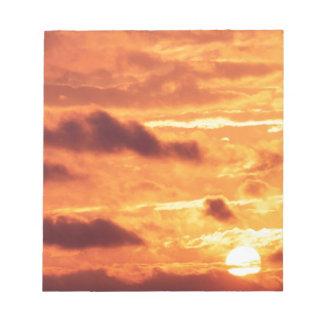 Sky Golden Glow Memo Pads