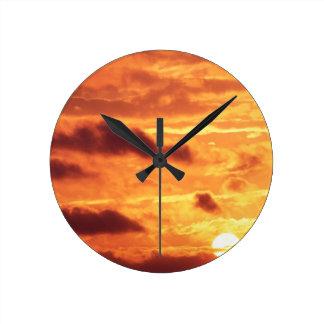 Sky Golden Glow Percy Warner Tennessee Clock