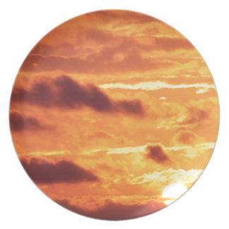 Sky Golden Glow Percy Warner Tennessee Dinner Plate