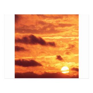 Sky Golden Glow Percy Warner Tennessee Postcard