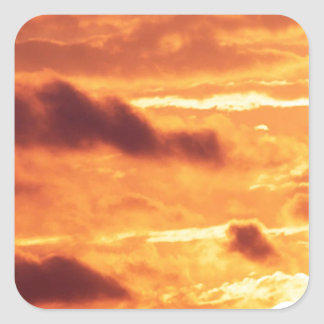 Sky Golden Glow Percy Warner Tennessee Square Sticker