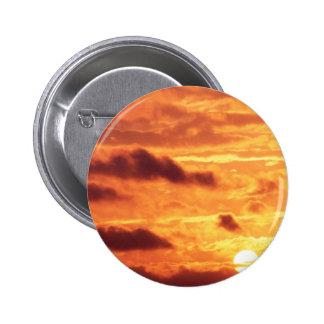 Sky Golden Glow Pinback Button