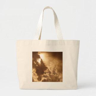 Sky Golden Glow Shines Bags