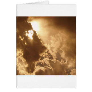 Sky Golden Glow Shines Cards