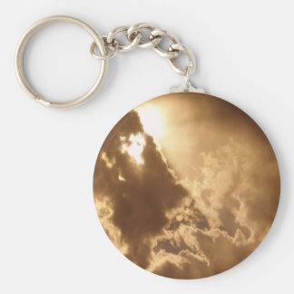 Sky Golden Glow Shines Key Chains