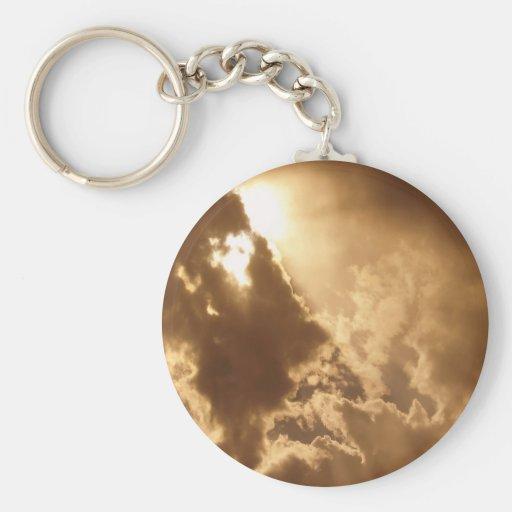 Sky Golden Glow Shines Key Chains