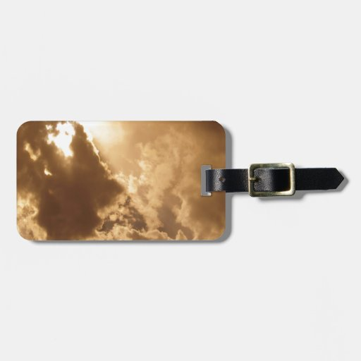 Sky Golden Glow Shines Travel Bag Tags
