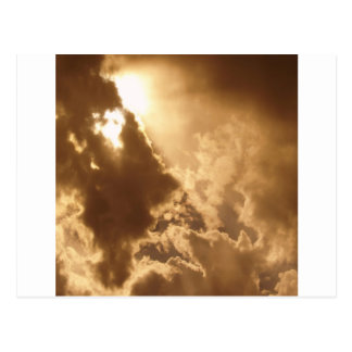 Sky Golden Glow Shines Post Cards