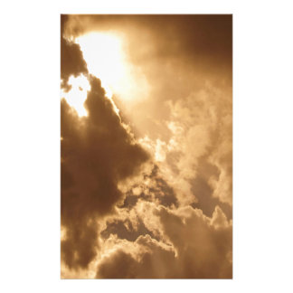 Sky Golden Glow Shines Personalized Stationery