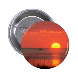Sky Golden Moment Gulf Mexico Florida Pinback Buttons